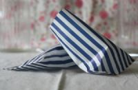 Blue & White Stripe Candy / Sweet Bags 5x7